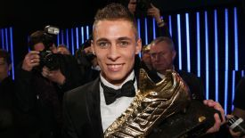 Thorgan Hazard claimed the Golden Shoe award for the best player in Belgium on Wednesday.