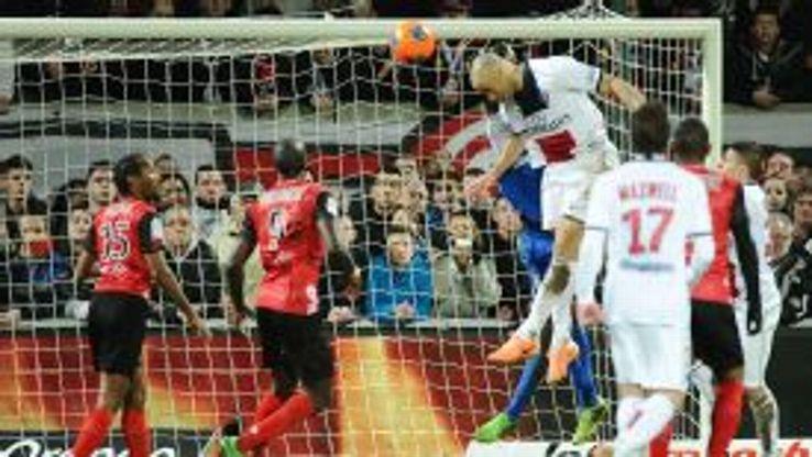 Brazilian defender Alex Costa scores for PSG.