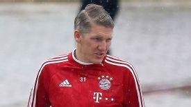 Bastian Schweinsteiger has not featured for Bayern since November.