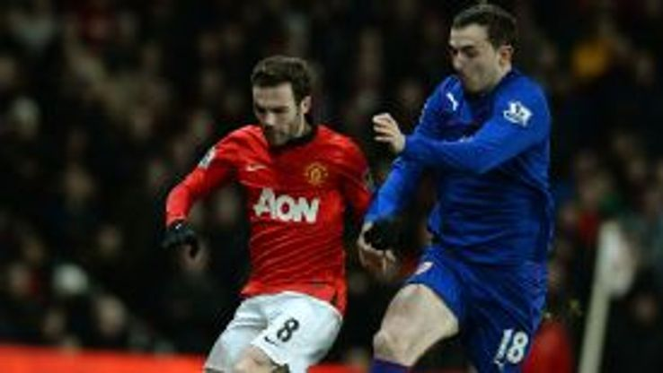 Juan Mata made his Man Utd debut against Cardiff.