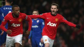 Juan Mata made his United debut in Tuesday's 2-0 win over Cardiff.
