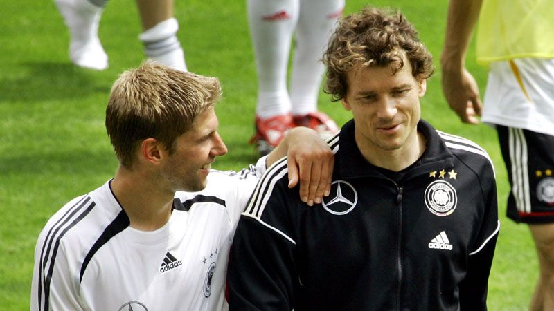 Jens Lehmann played alongside Thomas Hitzlsperger for Germany and Stuttgart.