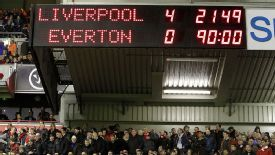 Liverpool 4-0 Everton scorebard