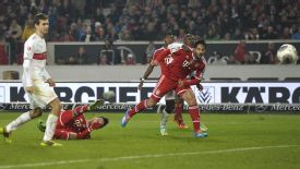 Thiago Alcantara scores the winning goal for Bayern.