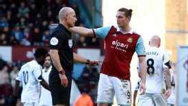 Howard Webb dismissed Andy Carroll during West Ham's victory.