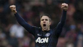 Robin van Persie pulled United level at Stoke.
