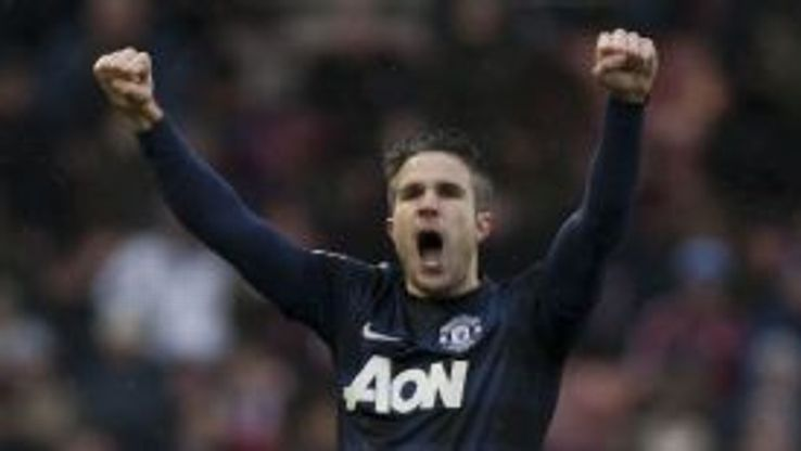 Robin van Persie pulled United level at Stoke.