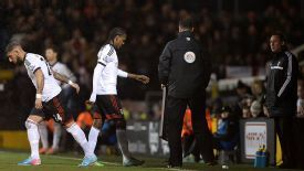 Hugo Rodallega was distraught at being substituted against Sheffield United.