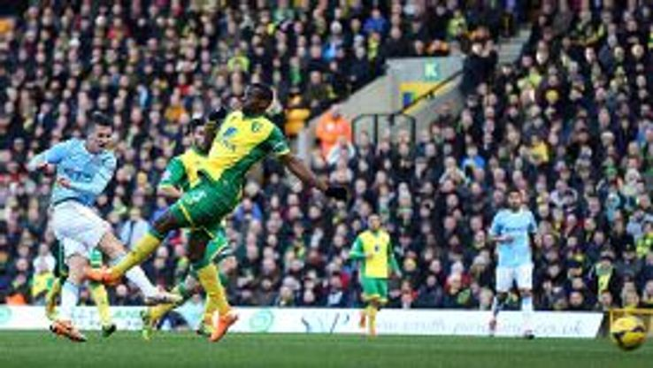 Stevan Jovetic was unable to fire Man City to victory at Norwich.