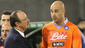Reina has reunited with former Liverpool boss Benitez at Napoli.