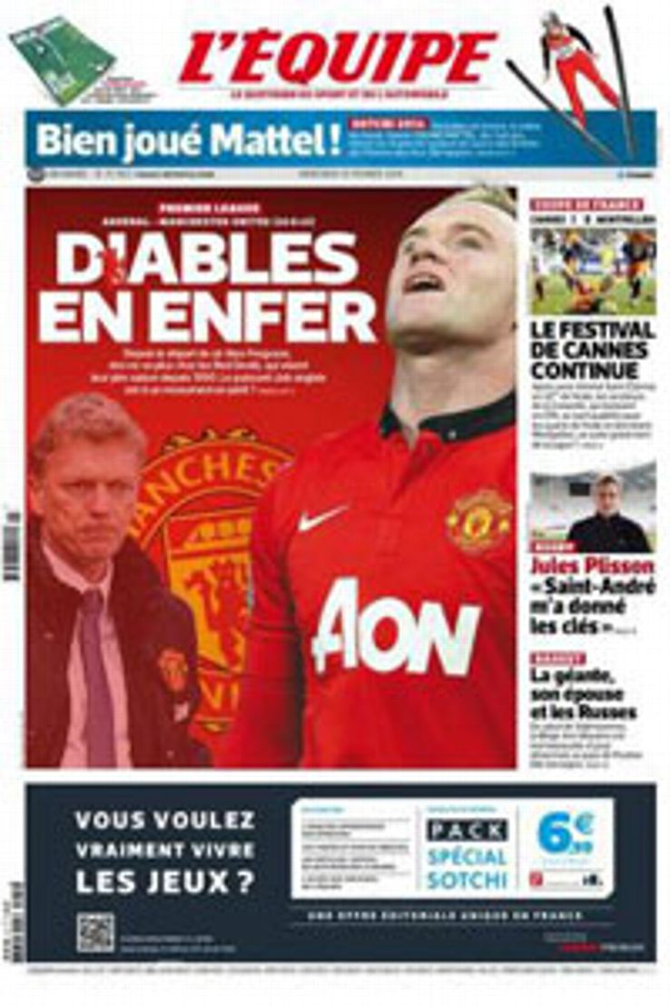 L'Equipe's front cover was headlined: