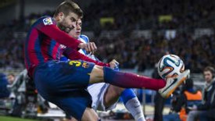 Gerard Pique action vs Real Sociedad