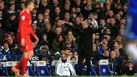 Jose Mourinho gestures vs Liverpool