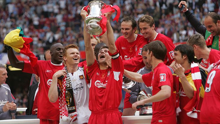 Liverpool captain Steven Gerrard last lifted the FA Cup in 2006.