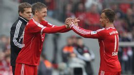 Bastian Schweinsteiger replaced Xherdan Shaqiri in the second half of the victory over Freiburg.