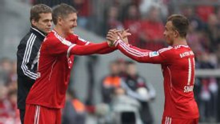 Bastian Schweinsteiger replaced Xherdan Shaqiri in the second half of the victory over Freiburg.