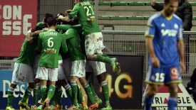 Brandao's late goal gave Saint Etienne a share of the spoils against his former club Marseille.