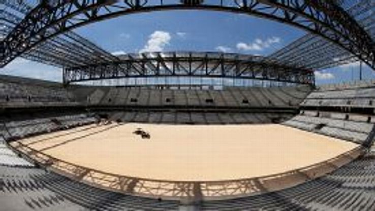 The Arena de Baixada in Curitiba was just a shell of a ground when pictured on Jan. 21.