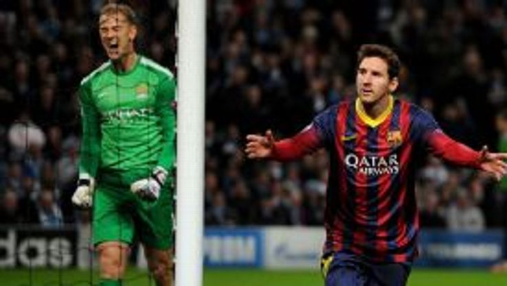 Joe Hart screams in frustration after Lionel Messi beat him from 12 yards.