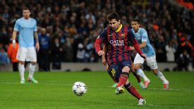 Lionel Messi stroked home the resulting penalty to send Barcelona into the lead.