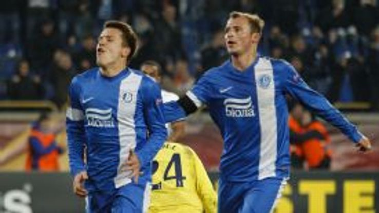 Yevhen Konoplyanka celebrates after converting his penalty.