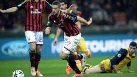 Adel Taarabt AC Milan vs Atletico Madrid