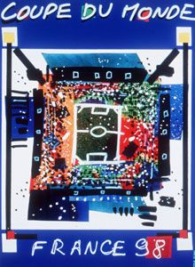 The official poster for the 1998 World Cup.
