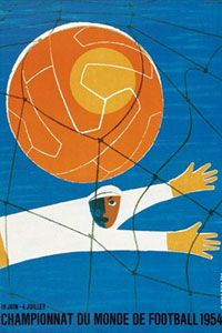 The official poster for the 1954 World Cup.