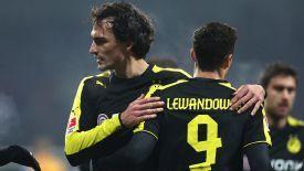 Robert Lewandowski and Mats Hummels Dortmund action