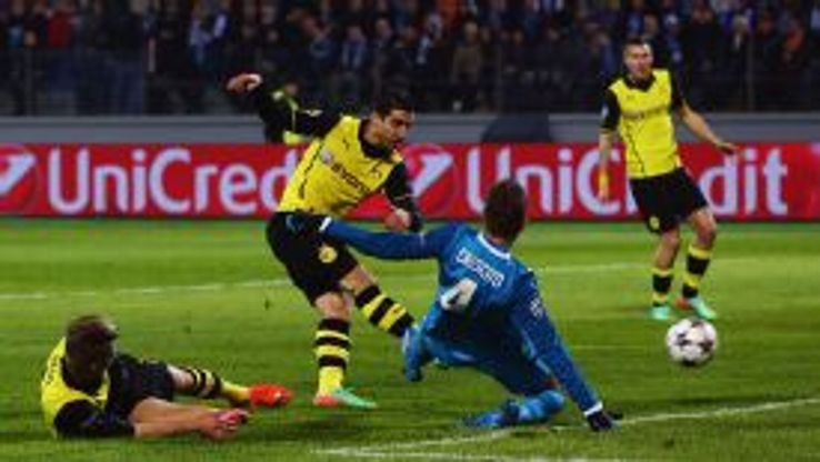Henrikh Mkhitaryan gave Dortmund the lead after just four minutes against Zenit.