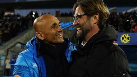 Juergen Klopp got the better of opposite number Luciano Spalletti.