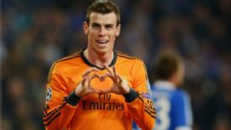 Bale's trademark heart-shaped celebration followed  his third Champions League
