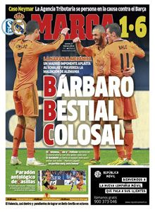 Marca used its front cover to pun on the