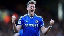 Andre Schurrle after he bagged his second for Chelsea at Fulham.