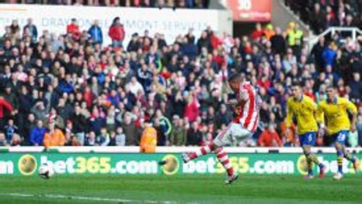 Jonathan Walters scores from the spot to earn Stoke all three points against Arsenal.