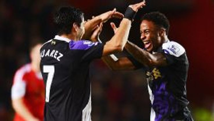 Luis Suarez and Raheem Sterling were both on target as Liverpool won 2-0 at Southampton.