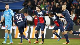 Maxwell scored PSG's first in their victory over Marseille.