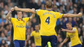 Rosicky and Mertesacker are two of the more senior members of the Arsenal squad.