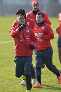 Arturo Vidal is currently with the Chile squad.