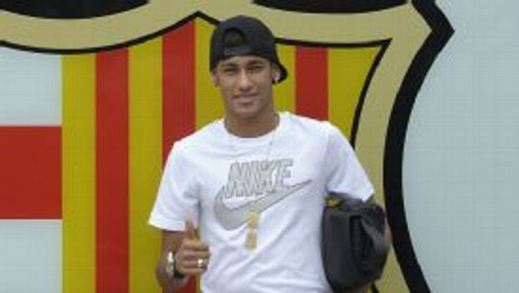 Neymar joined Barcelona from Santos last summer.