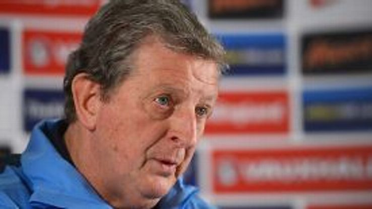 Roy Hodgson speaks to the press on Tuesday ahead of the friendly fixture against Denmark.