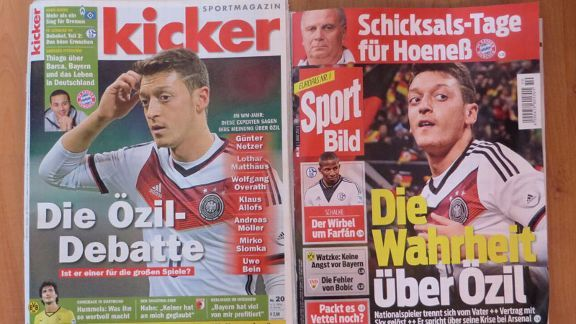 Mesut Ozil featured on the covers of kicker and Sport Bild this week.