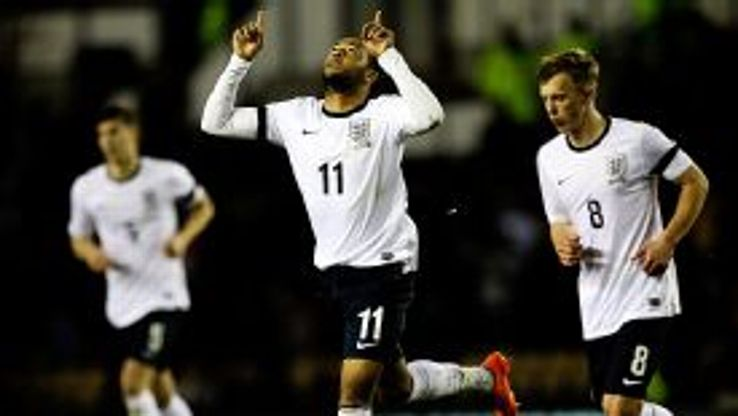 Nathan Redmond celebrates his goal against Wales.