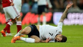 Wilshere had an issue with his ankle after the match against Denmark.