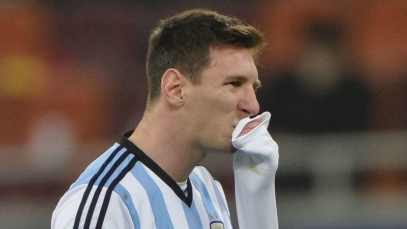 Lionel Messi vomited on the field in the opening minutes of the draw against Romania.