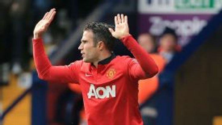 Robin van Persie was booked at West Brom before being substituted.