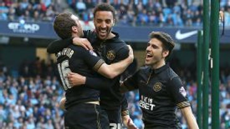 James Perch scored Wigan's second in their stunning win at Man City.