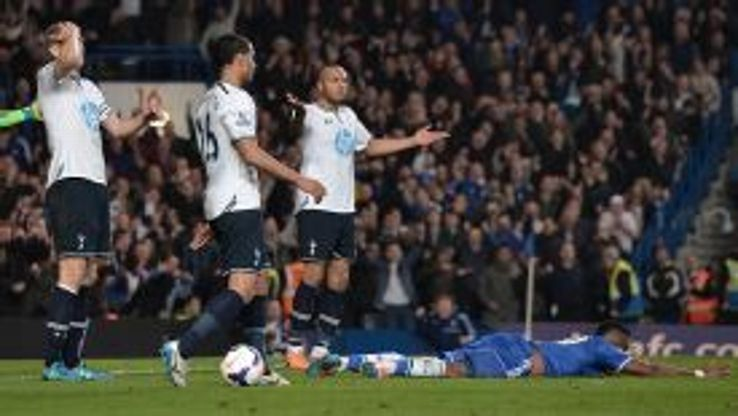 Kaboul was sent off shortly after Eto'o had scored the opening goal.
