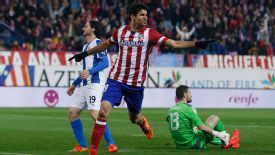 Diego Costa was on the scoresheet again for Atletico Madrid.