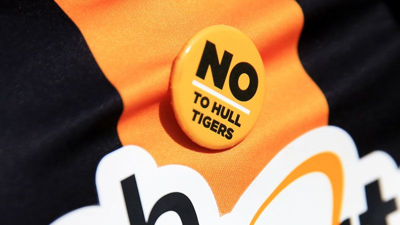 Hull City No Tigers badge